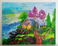 """Картина с акрилни бои """"Топлина и уют"""" 2"""